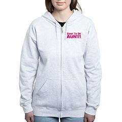 Soon To Be Aunt! Pink Zip Hoodie