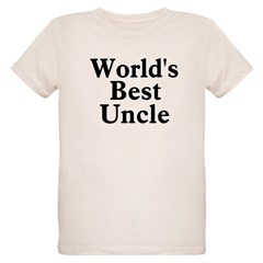 World's Best Uncle! Black Organic Kids T-Shirt