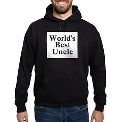 World's Best Uncle! Black Hoodie