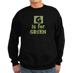 G is for Green Sweatshirt (dark)