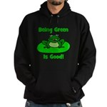 Being Green Frog Hoodie (dark)