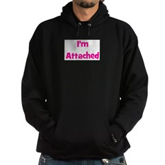 I'm Attached - Multiple Color Hoodie (dark)