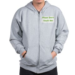 Please Don't Touch Me! Green Zip Hoodie
