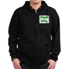 Veggie Baby Green Zip Hoodie