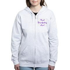 Proud Breastfeeding Mom - Mul Zip Hoodie