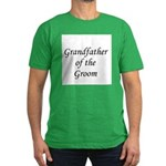 Grandfather of the Groom Men's Fitted T-Shirt (dar