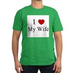 I (heart) My Wife! Men's Fitted T-Shirt (dark)