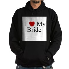 I (heart) My Bride Hoodie