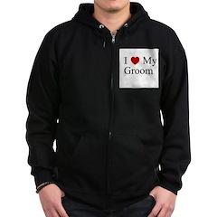 I (heart) My Groom Zip Hoodie