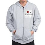 I (heart) My Husband Zip Hoodie
