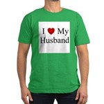 I (heart) My Husband Men's Fitted T-Shirt (dark)