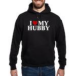 I Love My Hubby (heart) Hoodie (dark)