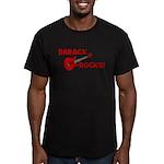 BARACK ROCKS! Men's Fitted T-Shirt (dark)