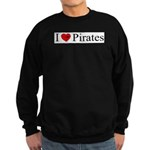 I heart Pirates Sweatshirt (dark)