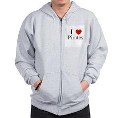 I heart Pirates Zip Hoodie