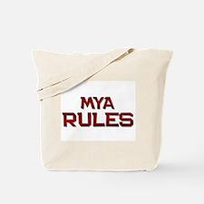 mya rules Tote Bag