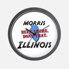 morris illinois - been there, done that Wall Clock
