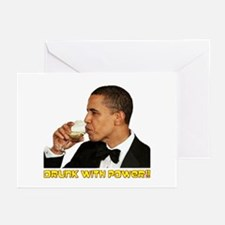 """Drunk With Power"" Greeting Cards (Pk of 10)"