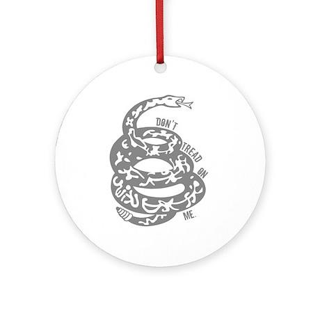 Dont Tread Snake Gray Ornament (Round)