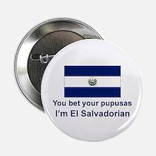 """El Salvador Pupusas 2.25"""" Button"""