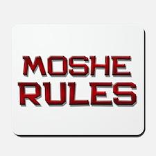 moshe rules Mousepad