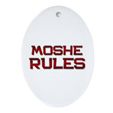 moshe rules Oval Ornament