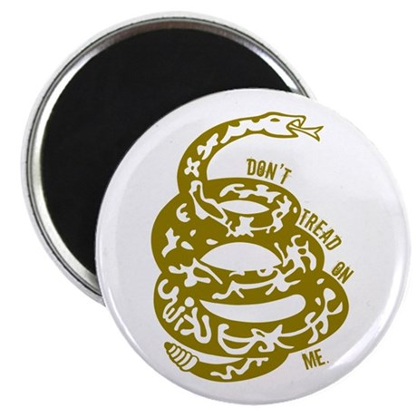 Dont Tread Snake Yellow Magnet