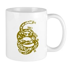 Dont Tread Snake Yellow Mug