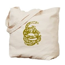 Dont Tread Snake Yellow Tote Bag