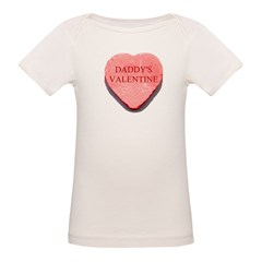Red Candy Heart - Daddy's Val Organic Baby T-Shirt