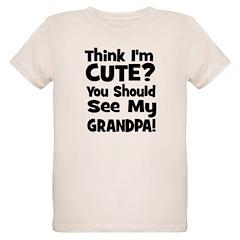 Think I'm Cute? Grandpa Black T-Shirt