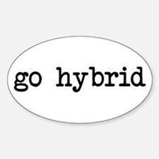 go hybrid Oval Decal