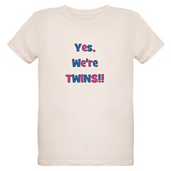 Yes, We're Twins! Blue & Pin T-Shirt