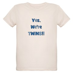 Yes, We're Twins! Blue & Blue T-Shirt