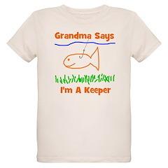 Grandma Says I'm A Keeper Organic Kids T-Shirt
