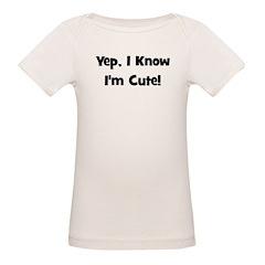 Yep, I know I'm cute! Black Tee