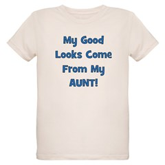 Good Looks From Aunt - Blue T-Shirt
