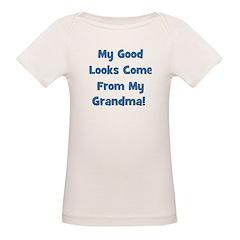 Good Looks from Grandma - Blu Organic Baby T-Shirt