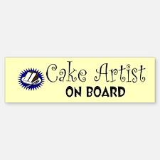 """""""Cake Artist"""" Bumper Bumper Bumper Sticker"""