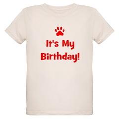 It's My Birthday - Red Paw T-Shirt