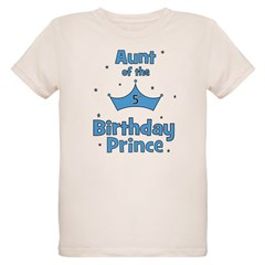 Aunt of the 5th Birthday Prin T-Shirt