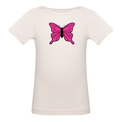 Pink Butterfly Organic Baby T-Shirt