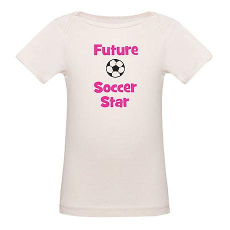 Future Soccer Star (pink) Organic Baby T-Shirt