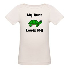 My Aunt Loves Me! Turtle Organic Baby T-Shirt