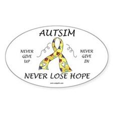 Autism Hope Oval Sticker (10 pk)