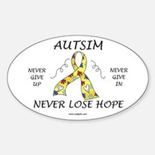 Autism Hope Oval Stickers