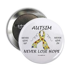 """Autism Hope 2.25"""" Button (100 pack)"""