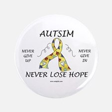 """Autism Hope 3.5"""" Button (100 pack)"""