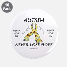 "Autism Hope 3.5"" Button (10 pack)"