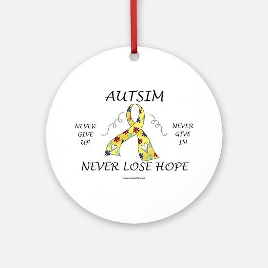 Autism Hope Ornament (Round)